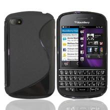 Anti-skid design matte S line case For blackberry Q10 frosted TPU Gel Skin Case For blackberry Q10