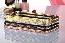 Original Aluminum Deluxe Bling Metal Luxury Hard crystal Bumper Frame diamond Case for Samsung Note2 N7100