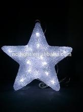 3D acrylic star motif LED christmas light