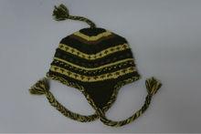2014 stripe dot general knitted beanie hat