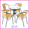 outdoor rattan bar chair