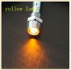 Wenzhou High Brightness Metal 6mm panel mount yellow 12v indicator light chrome