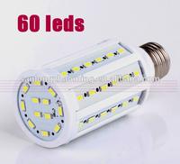 0 pcs/lot 5730 SMD cree chip 60 LED 15W Corn Lamp E27 B22 E14 110V/ 220V AC LED Bulb Cool /Warm white Light Blub