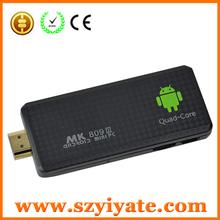 MK809III Quadcore xmbc quad box bluetooth 2G RAM 8G Nand Android4.2 Quad Core RK3188 Smart TV Dongle