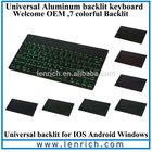 LBK144 Backlit LED Illuminated mini bluetooth keyboard for google nexus 4