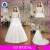 A-line Sweetheart Sleeveless Low Back Layers Tulle Train Wedding Dress Designs