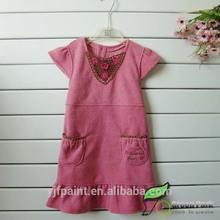 2014 summer popular rose red baby girl dress baby wear