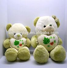 lovely plush teddy bear with love heart