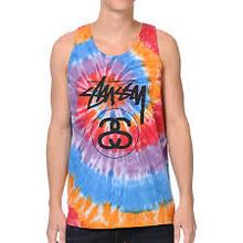 2014 Summer Dress Top Tie-dye Print Tank Top Printed Washed Cotton Viscose Wholesale Tank Top