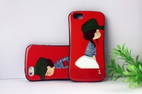 2014 cute for couple custom shaped plastic phone case for iphone