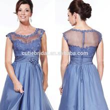 Nice 2014 Chiffon Prom Dress Gowns Bridal Evening Floor Length Applique Cap Sleeve