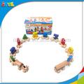 Número de madera de aprendizaje tren para los niños juguetes de madera del tren