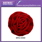make satin ribbon flowers red rose satin flowers cloth brooches