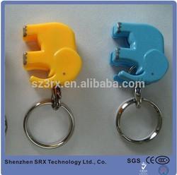fashion key chain;cute cartoon animal shape key chain;elephant shape key chain