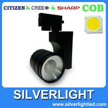 modern black aluminum warm white paint AC100-240V 9W mini track spotlight
