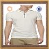 plain white color zipper collar polo shirt sale manufacturer