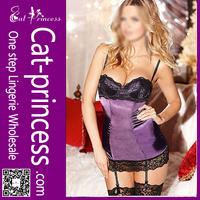 Fancy Lace String Sleepwear Women Sexy Underwear Set Nightgown Bra Thongs G String Lingerie Chemise