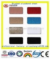 Construction Decorative Material Aluminum Composite Panel Acp Color Chart(Brushed)