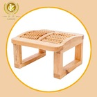 wooden massage roller stool foot massage in dubai