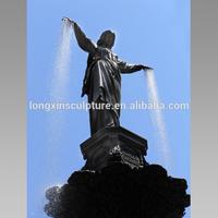 The Genius of Water statue on Fountain Square Bronze Fountain