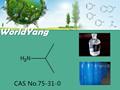 Worldyang amoniocas. 75-31-0 líquido transparente e incoloro isopropilamina 2- aminopropane; 2- propanamine; seg- propilamina