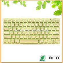 100% handmade bamboo mini bluetooth keyboard -Andy