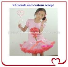 tangerine flower baby girls clothing baby girl pettiskirt set,baby girl christening outfits