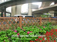 outdoor WPC preservative garden plastic fencing