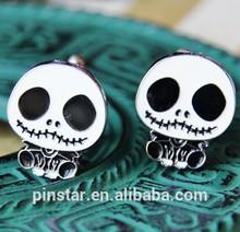high quality cufflink for man skull cufflink cufflink for mens shirts