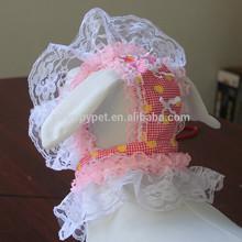 Fancy Dog Cap Lace Flower Hat Pink Blue
