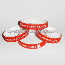 Discount branded debussed full color silicon wristbands