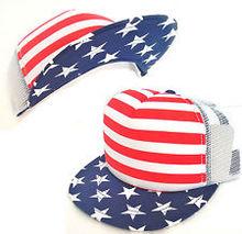 National flag logo printed pattern fashion snap back cap