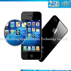 2014 Protective film leather book case for apple for iphone 4 4g