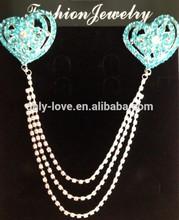 muslim rhinestones chain brooches,hijab pins, scarf pins BZ173