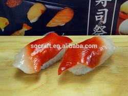 Lifelike fake sushi fridge magnet/sushi supplier from China/Yiwu sanqi craft factory