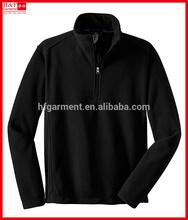 quarter zip pullover mens polar fleece jacket black new design