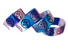 Colorful Custom swirl and printed 1 Inch Silicone Wristbands