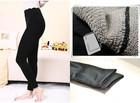 polyester spandex women's fitness leggings black suspender pantyhose made with velvet