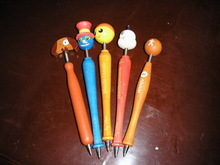 design cartoon pen/pen with cartoon head/wooden pen