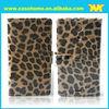 Leopard print mobible phone leather case flip case for soni xperia l