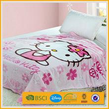promotional kid 50x60 satin trim mickey mouse double-face fleece blanket