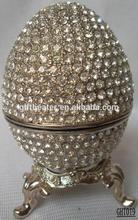 2014 Zinc Alloy Egg Shape Jewelry Box