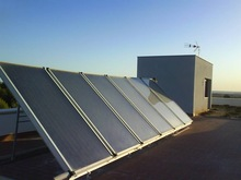 High Efficient Solar Panel Collector With Blue Titanium,flat plate solar collector prices