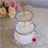 porcelain/ceramic three layer cake stand