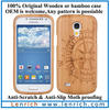 LPC3706 natural bamboo case for the Samsung Galaxy S4 Mini i9190 / i9195 in a light Color