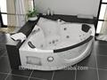 Ar& combo whirlpool massagem banheira, janela de vidro banheira de hidromassagem, acrílico banheira canto