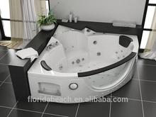 Air & whirlpool combo massage bathtub, Glass window whirlpool, Acrylic Corner Bath Tub