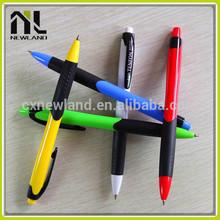 New arrival hot sale meeting cute press short rubber plastic promotion advertising ballpoint gel pen refill