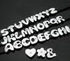8mm single rhinestone DIY slide alpabet letters for bracelet,necklace,pet collars,keyring
