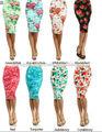 L'arrivée de nouveaux mode femmes 2014 élastiques, floralesaccepter extensible, genou, tricotés. crayon jupe droite prix pas chers chine fournisseur en gros